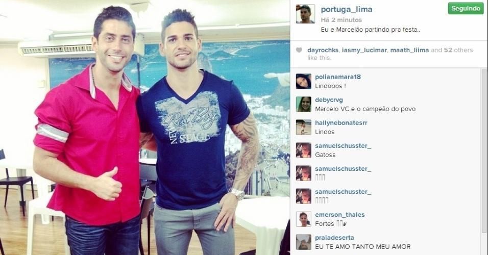 01.abr.2014 - Rodrigo posta foto com Marcelo: