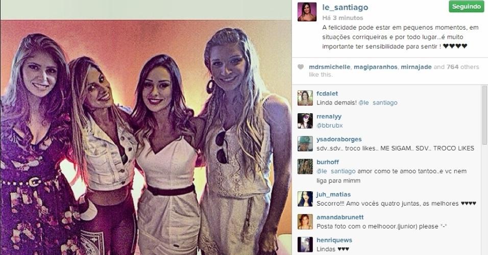 02.abr.2014 - Letícia posta foto com as ex-participantes e escreve: