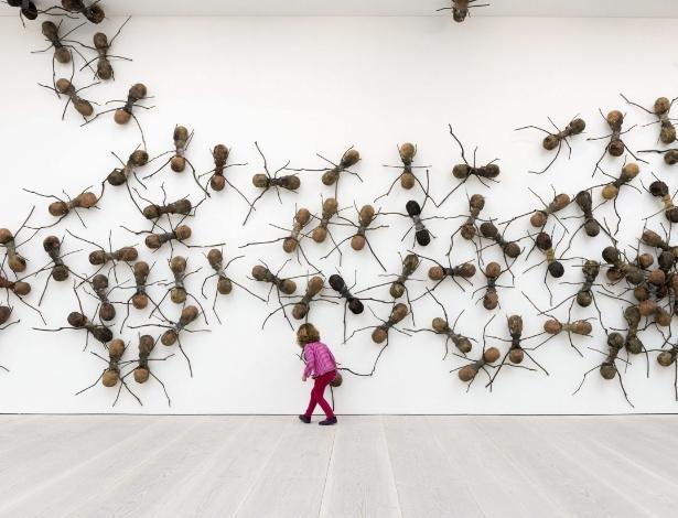 """1.abr.2014 - Obra da mostra """"Pangea: nova arte da África e da América Latina"""" na Galeria Saatchi de Londres - EFE"""