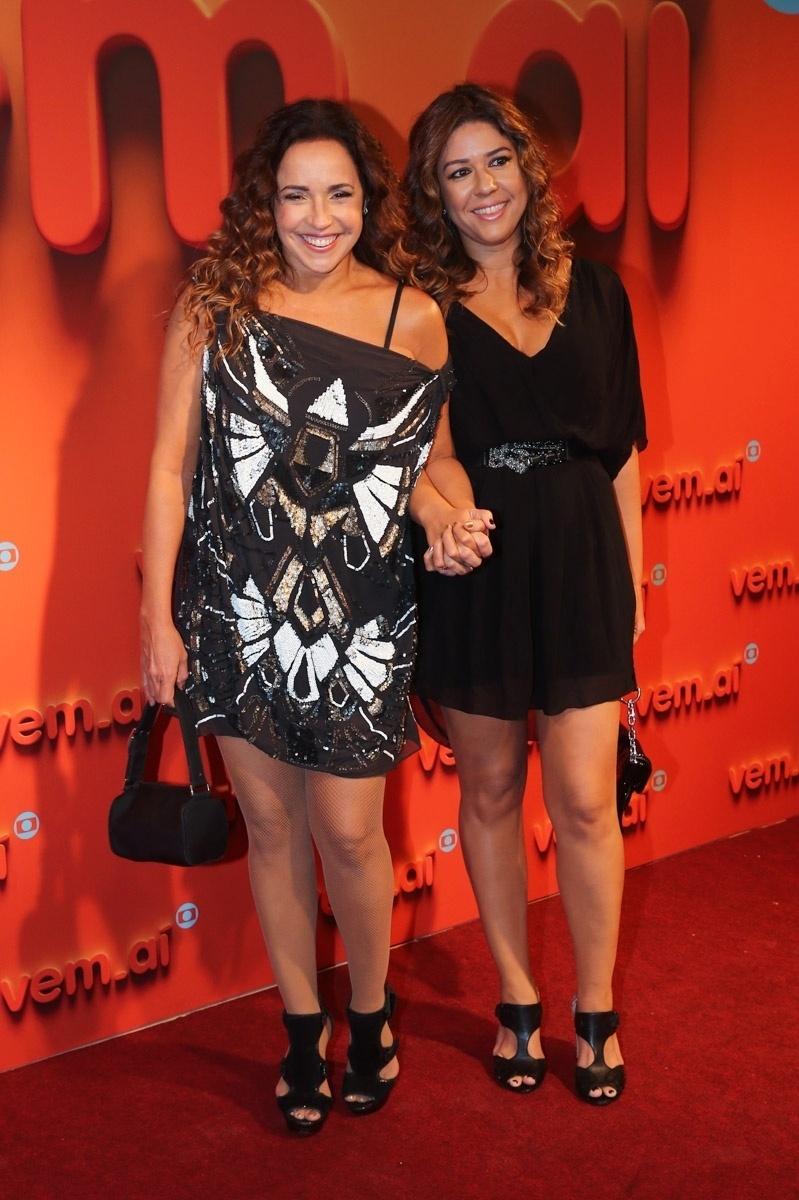 2.abr.2014 - Daniela Mercury e Malu Verçosa prestigiaram a