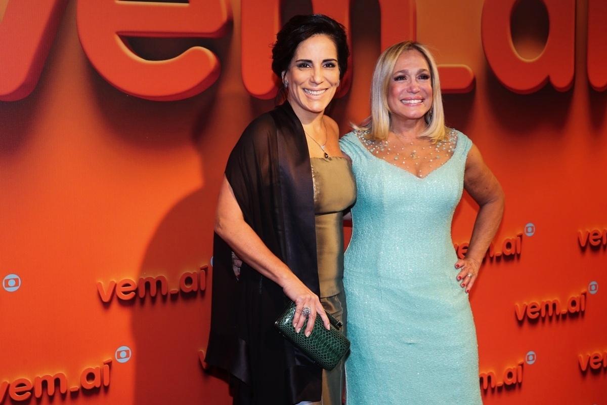 2.abr.2014 - Gloria Pires e Susana Vieira prestigiaram a