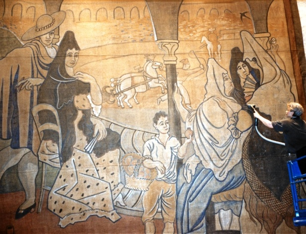2.abr.2014 - Justiça de NY decidirá se obra frágil de Pablo Picasso poderá ser retirada de parede de restaurante para reforma - Reprodução/New York Landmarks Conservancy