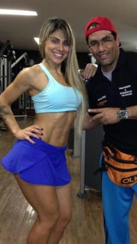 Vanessa e seu treinador Reco PH