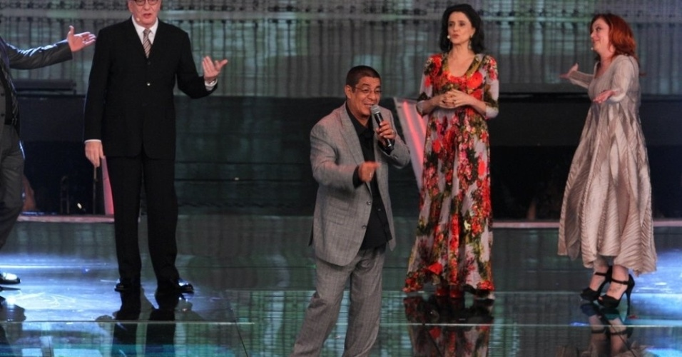 """2.abr.2014 - Zeca Pagodinho na gravação do """"vem_aí"""""""