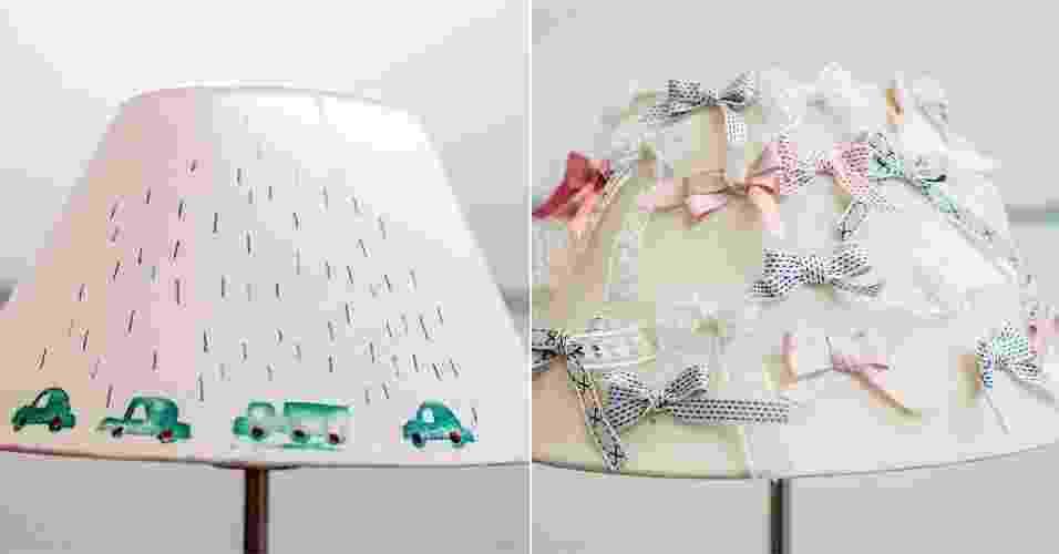 passo a passo de duas decorações para cúpula de abajur - Leandro Moraes/UOL