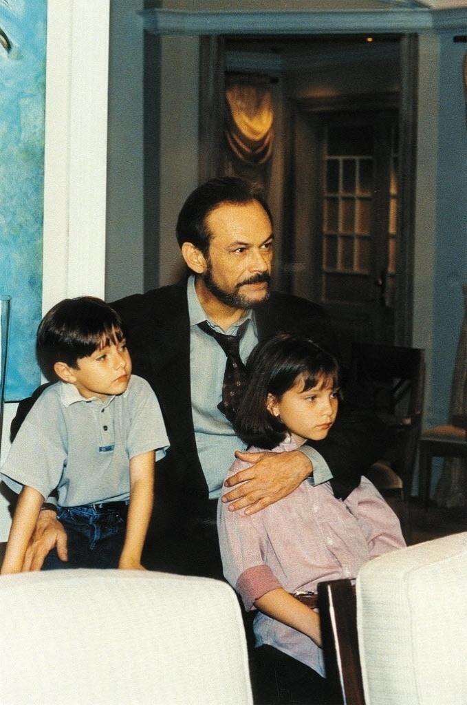 1999 - O ator José Wilker durante gravação da novela