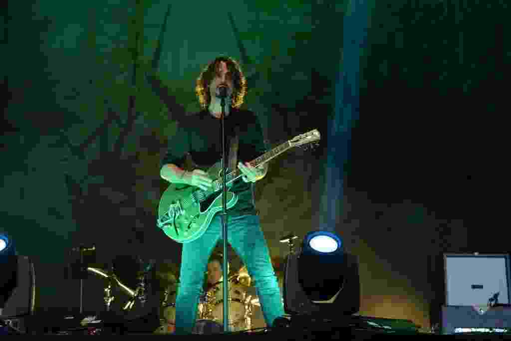 6.abr.2014 - Soundgarden se apresenta no segundo dia do Lollapalooza 2014 no Autódromo de Interlagos, em São Paulo - Caio Duran/AgNews
