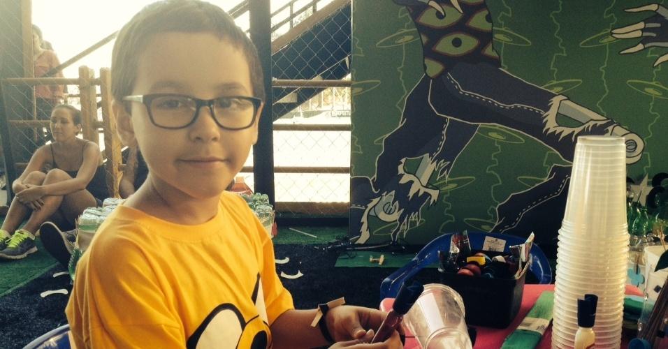 06.abr.2014 - Ricardo, de 6 anos, brinca no Kidzpalooza do Lollapalooza 2014, no Autódromo de Interlagos, em São Paulo