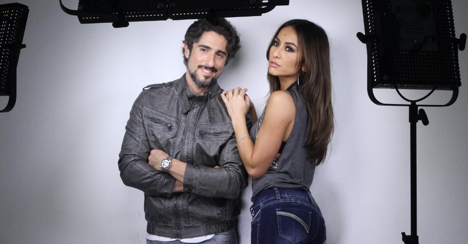 8.abr.2014 - Sabrina Sato e Marcos Mion fotografaram juntos para a campanha de uma marca de jeans. As fotos foram feitas em São Paulo