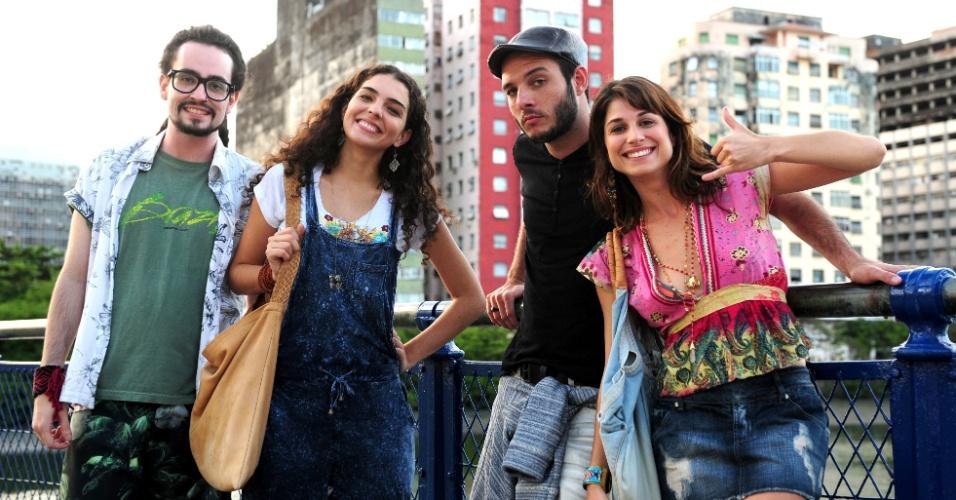 """Os atores Johhny Hoocker, Julia Konrad, Samuel Vieira e Chandelly Braz gravaram cenas de """"Geração Brasil"""" em Recife (CE)"""