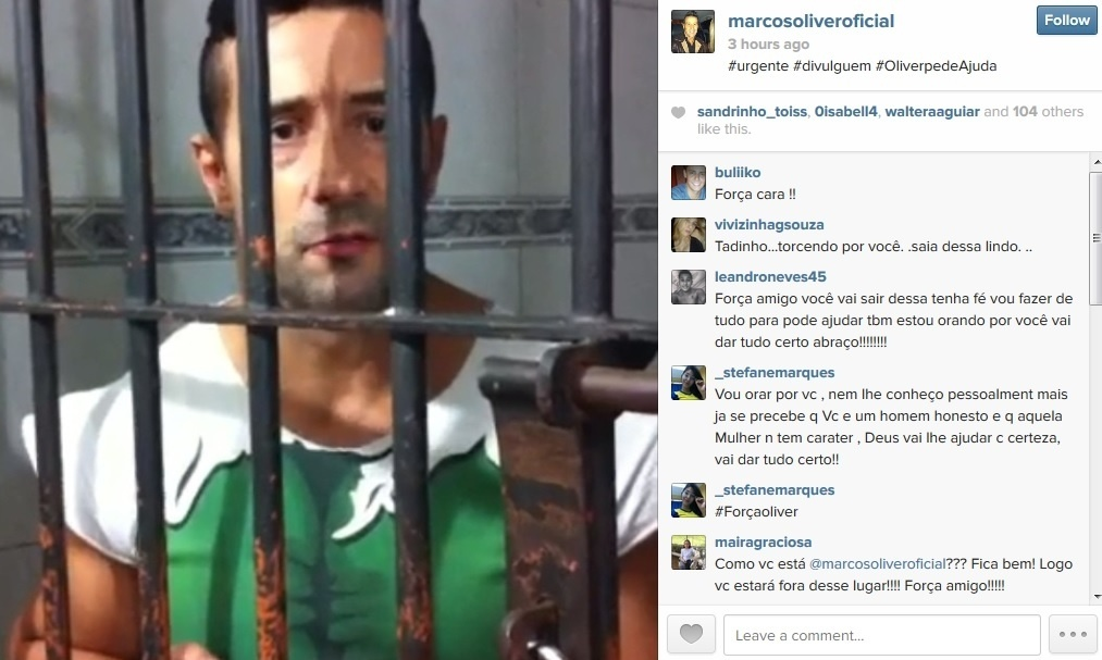 10.abr.2014 - Preso, Marcos Oliver pede ajuda na internet