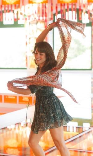 """Chandelly Braz grava cenas """"Geração Brasil"""", próxima novela das sete da Globo, no Paço do Frevo, no Recife. Ela fez cenas na cidade no início de fevereiro"""