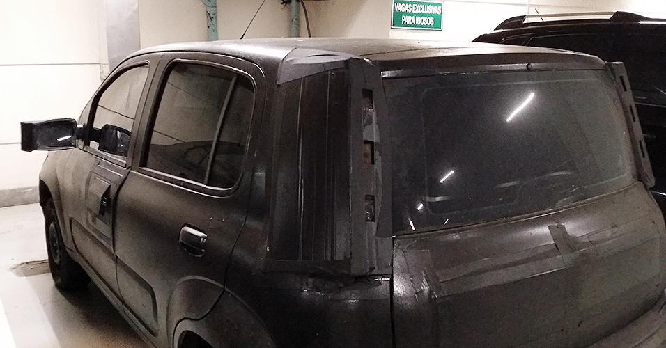 Fiat Uno 2015 flagrado