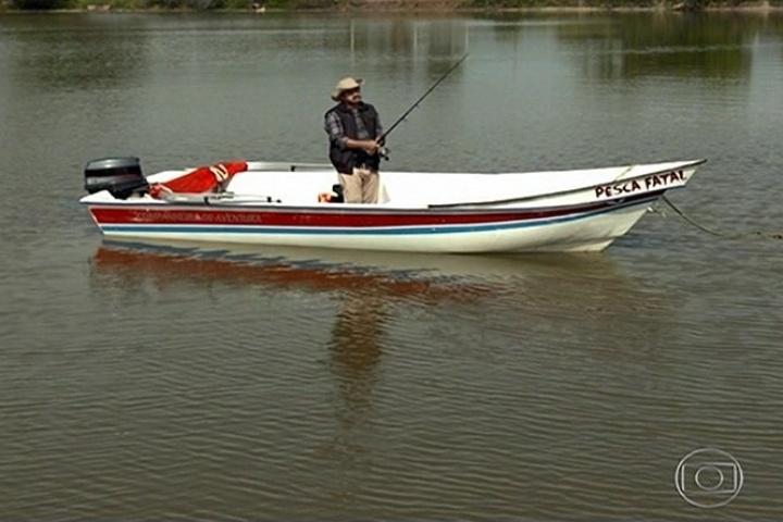 """11.abr.2014 - A esquete """"Pesca Fatal"""", que apenas mostrou um pescador em um barco, foi um sucesso"""