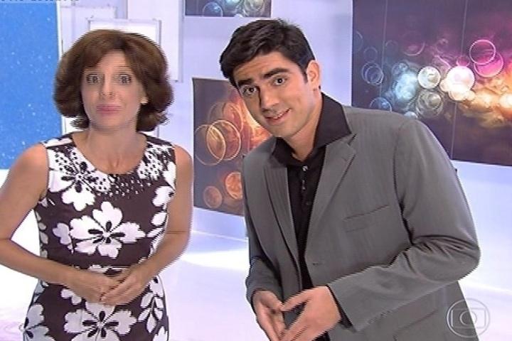 """11.abr.2014 - O """"Fantástico"""", da Globo, também foi alvo de brincadeira do """"Tá no Ar: A TV na TV"""""""