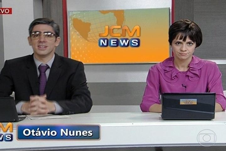 11.abr.2014 - Telejornais de canais jornalísticos também foram satirizados