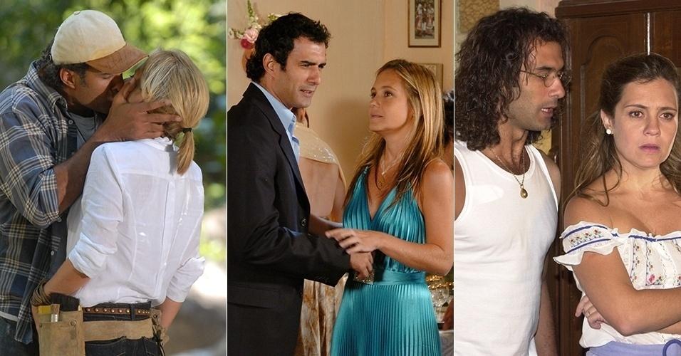 """Adriana Esteves e Marcos Pasquim dividiram a tela três vezes como casal: em """"Morde e Assopra"""" (2011), """"A Lua Me Disse"""" (2005) e """"Kubanacan"""" (2003)"""