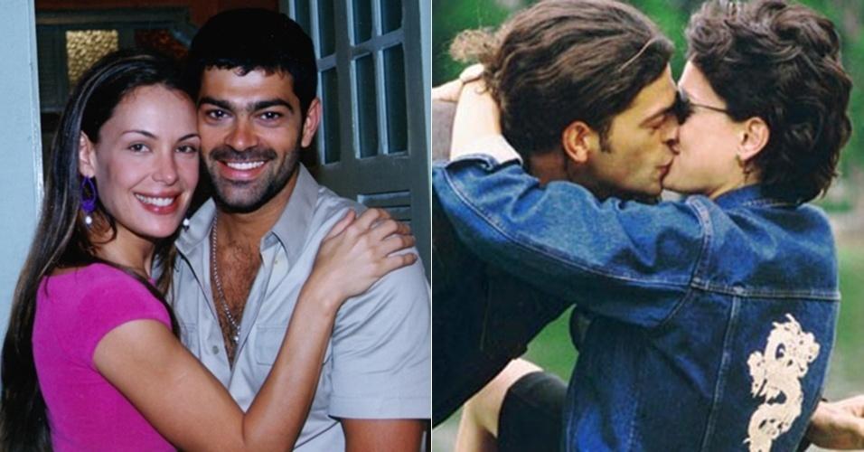 """Carolina Ferraz e Eduardo Moscovis dividiram a cena como casal em """"Pecado Capital"""" (1998) e """"Por Amor"""" (1997)"""