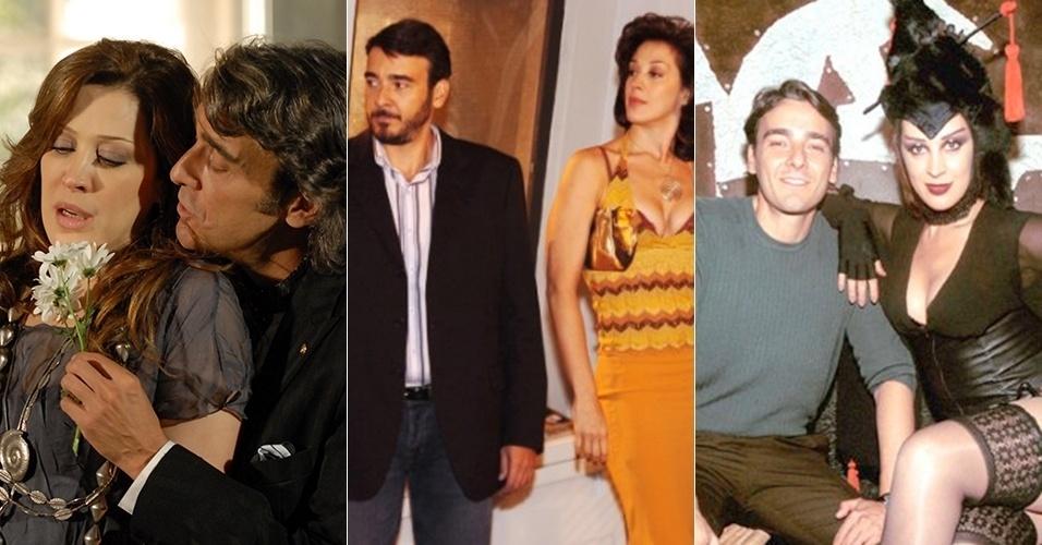 """Cláudia Raia e Alexandre Borges tiveram seis parcerias de sucesso na televisão: nas novelas """"Ti-Ti-Ti"""" (2010), """"Belíssima"""" (2005), """"O Beijo do Vampiro"""" (2002) e """"As Filhas da Mãe"""" (2001), e nas séries """"Mulher"""" (1999) e """"Engraçadinha"""" (1995)"""
