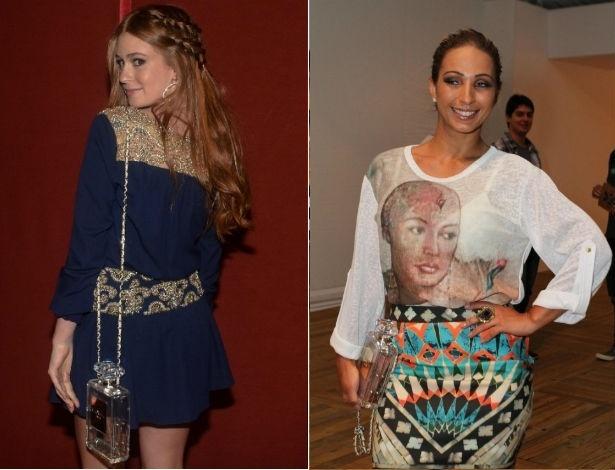 Marina Ruy Barbosa e Valesca Popozuda com suas clutches Chanel de R$ 20 mil