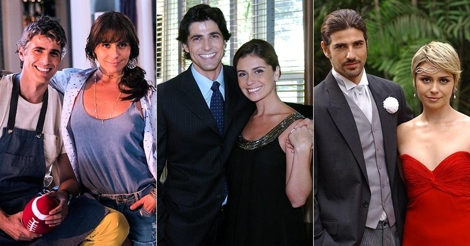 """No ar como o casal Clara e Cadu na novela """"Em Família"""", Giovanna Antonelli e Reynaldo Gianecchini também viveram um romance em """"Sete Pecados"""" (2007) e """"Da Cor do Pecado"""" (2004)"""