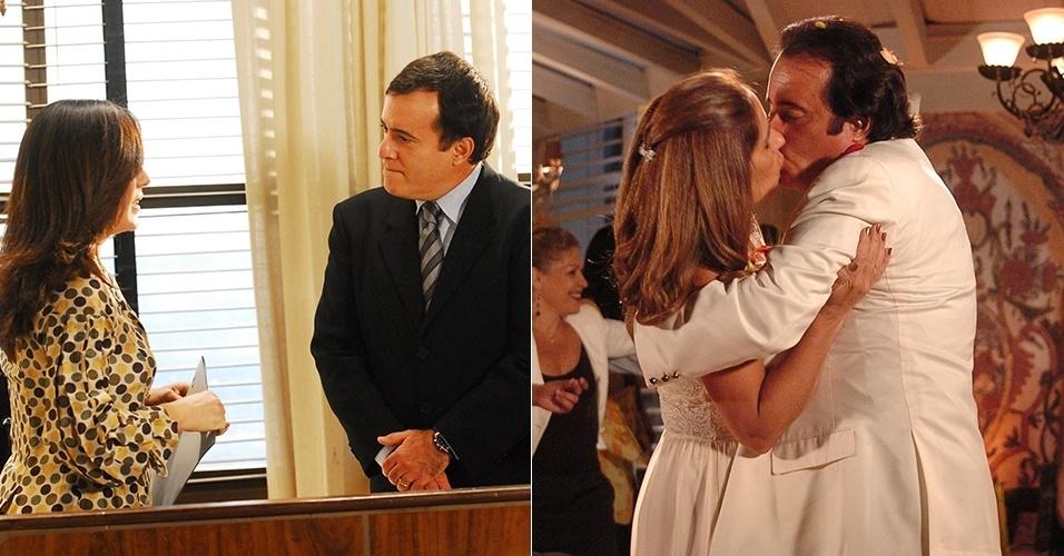 """Tony Ramos e Glória Pires interpretaram um casal em """"Paraíso Tropical"""" (2007) e """"Belíssima"""" (2005)"""