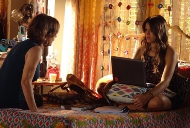 13.abr.2014 - Chica orienta a neta a fugir do romance com Laerte, que pode acabar magoando Helena