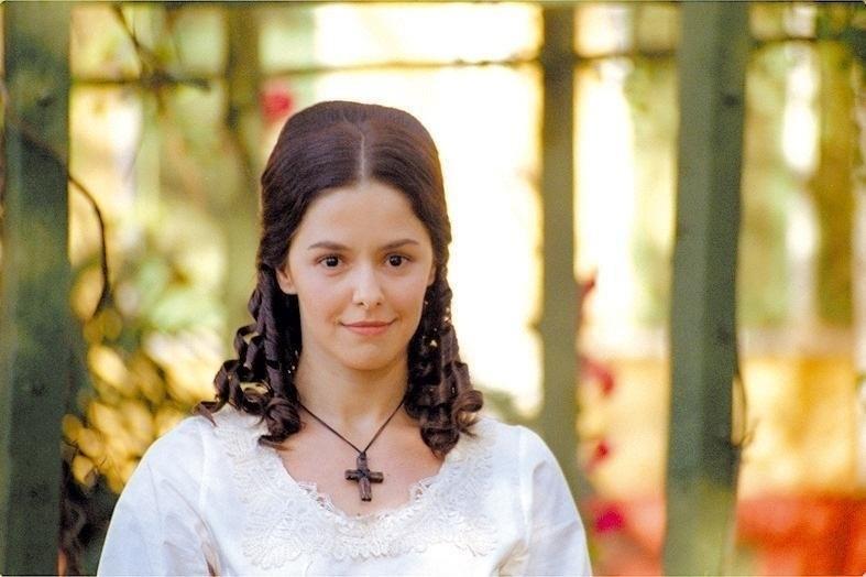 18.ago.2004 -A atriz Bianca Rinaldi durante gravação da novela