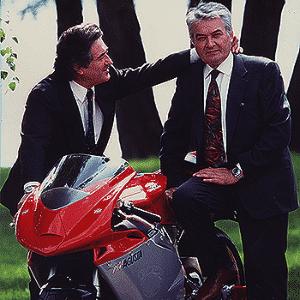 Claudio Castiglio e Massimo Tamburini, parceiros na Cagiva - Divulgação