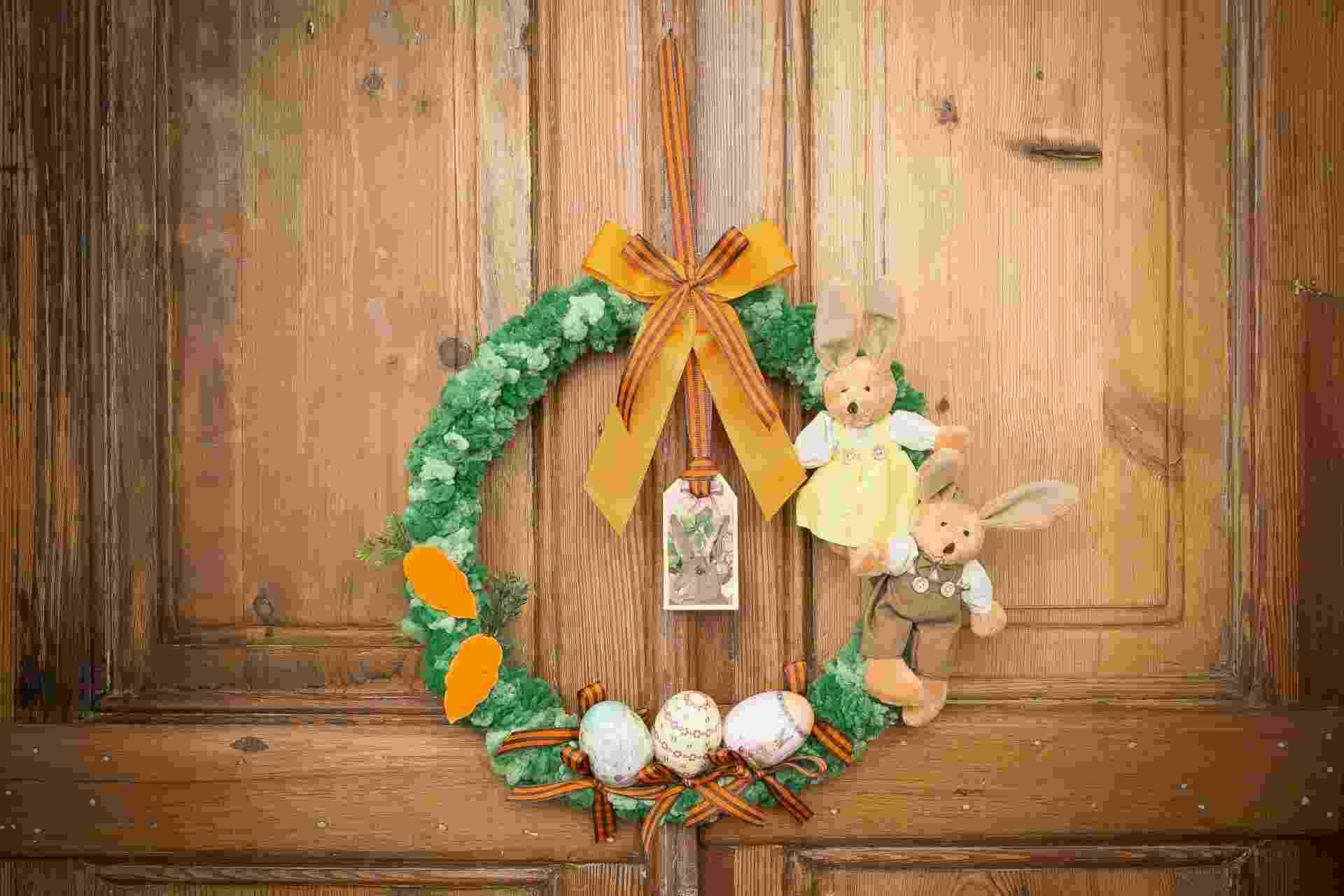Faça uma guirlanda para a decoração de Páscoa - Rodrigo Capote/UOL
