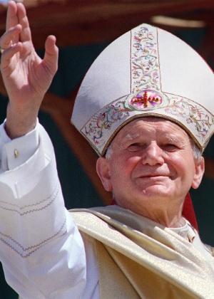 O Papa João Paulo II, morto em 2005 - AFP/Getty Images