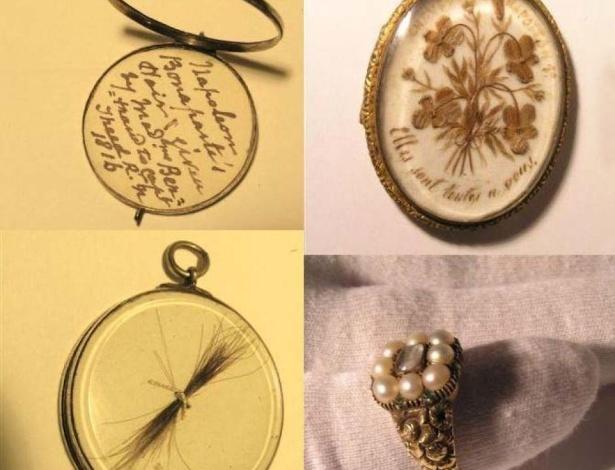 Pingentes, cabelo e um anel estão entre uma coleção de relíquias furtada de Napoleão Bonaparte - Reprodução/Victoria Police