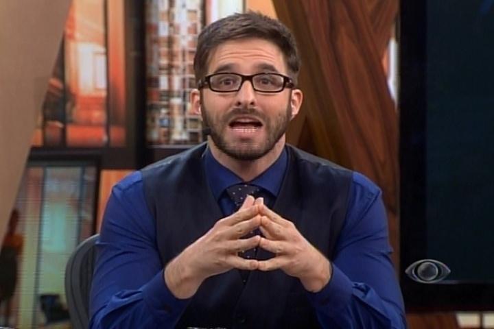 16.abr.2014 - Durante seu programa, Rafinha Bastos insinuou que Reynaldo Gianecchini é gay.