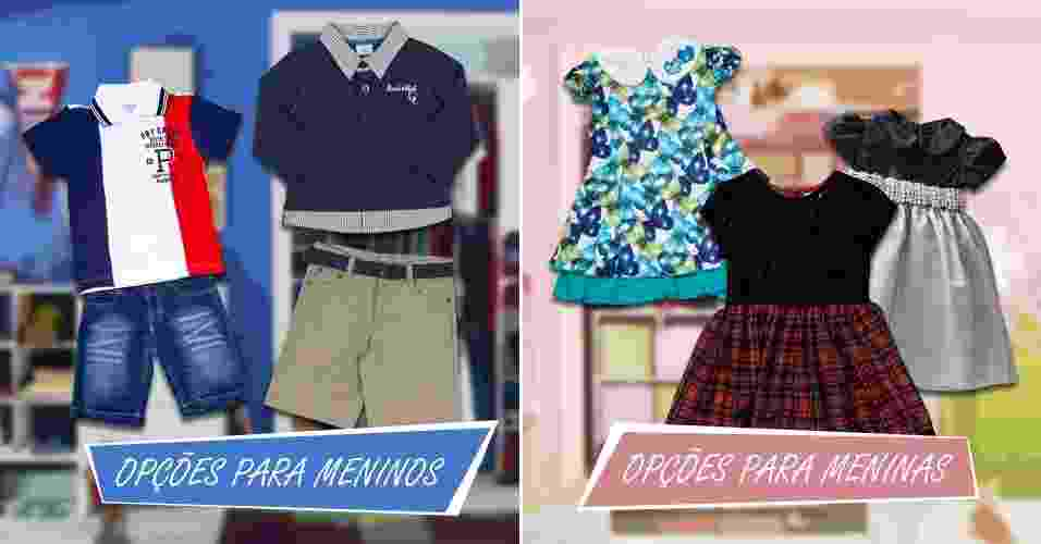 Veja opções de roupas de festa para crianças entre zero e 12 anos - Arte/UOL