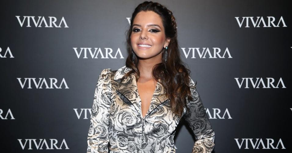 16.abr.2014 - Giovanna Lancellotti comparece ao lançamento da coleção