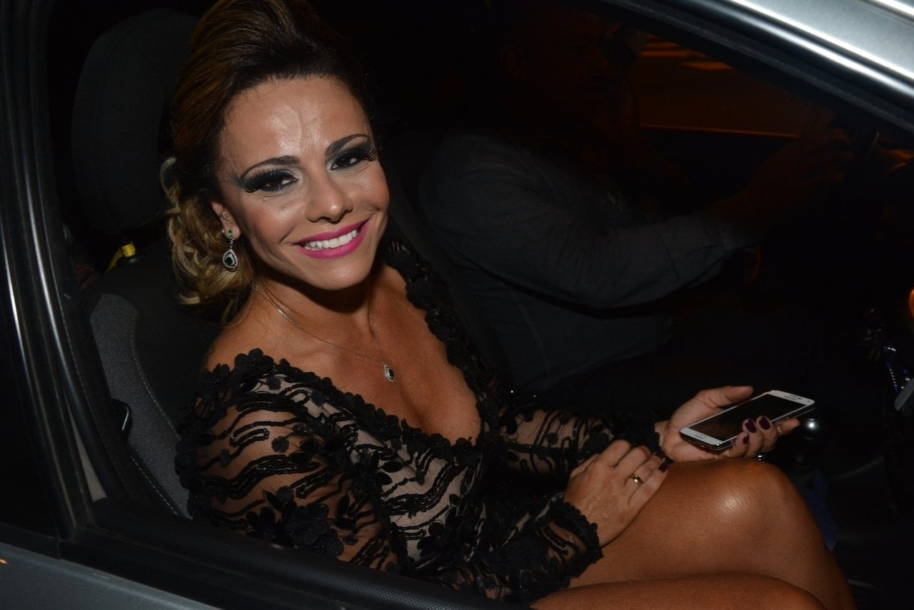 16.abr.2014 - Viviane Araújo, que está no elenco da novela de Aguinaldo Silva,