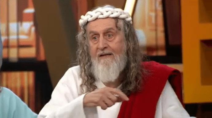 18.abr.2014 - Rafinha Bastos entrevista Inri Cristo em seu programa Agora É Tarde, da Band, e o líder religioso chama padre Marcelo Rossi de