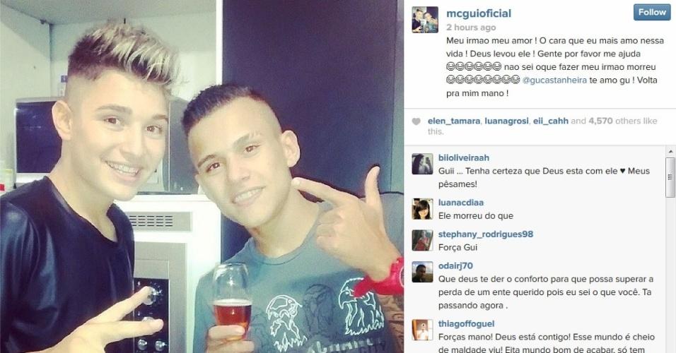 Sei Que Meu Deus Não Me Deixara: Morre O Irmão Do Funkeiro MC Gui; Jovem Tinha 17 Anos