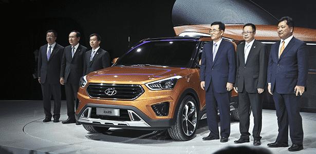 Hyundai ix25 Concept e chefões da marca coreana no Salão de Pequim - Guilber Hidaka - Guilber Hidaka