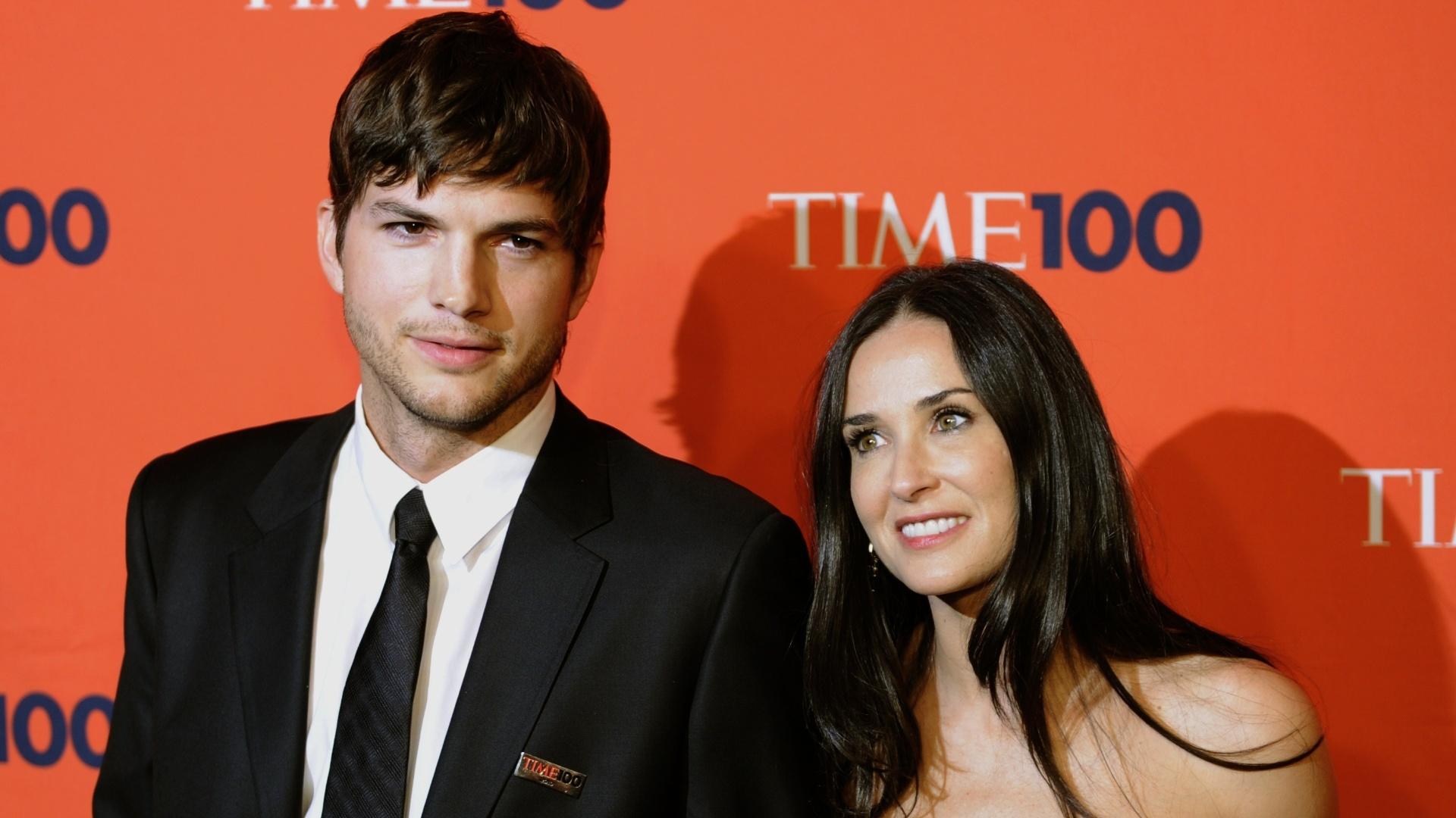 05.mai.2010-Ashton Kutcher e Demi Moore, quando ainda eram casados