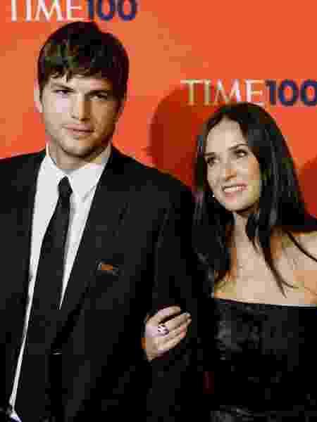 Ashton Kutcher e Demi Moore, quando ainda eram casados - Timothy A. Clary/AFP