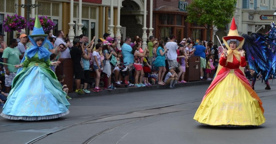 A Bela Adormecida, conto clássico, é tema de um dos carros da Disney Festival of Fantasy Parade