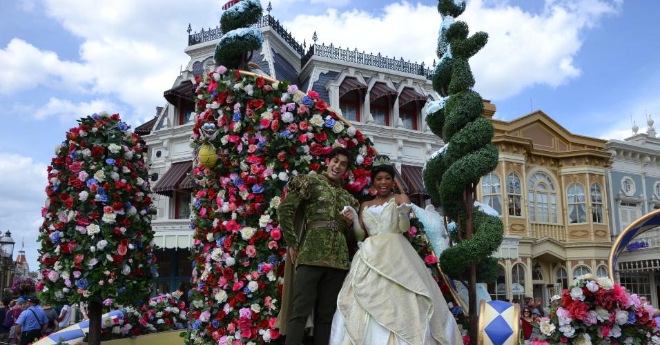 A princesa Tiana representa a nova geração de princesas das animações da Disney na nova parada do Magic Kingdom
