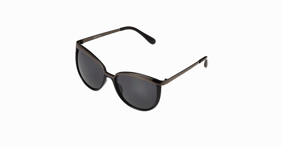 De acetato e metal; R$ 169 da Triton Eyewear  (www.tritoneyewear.com.br)