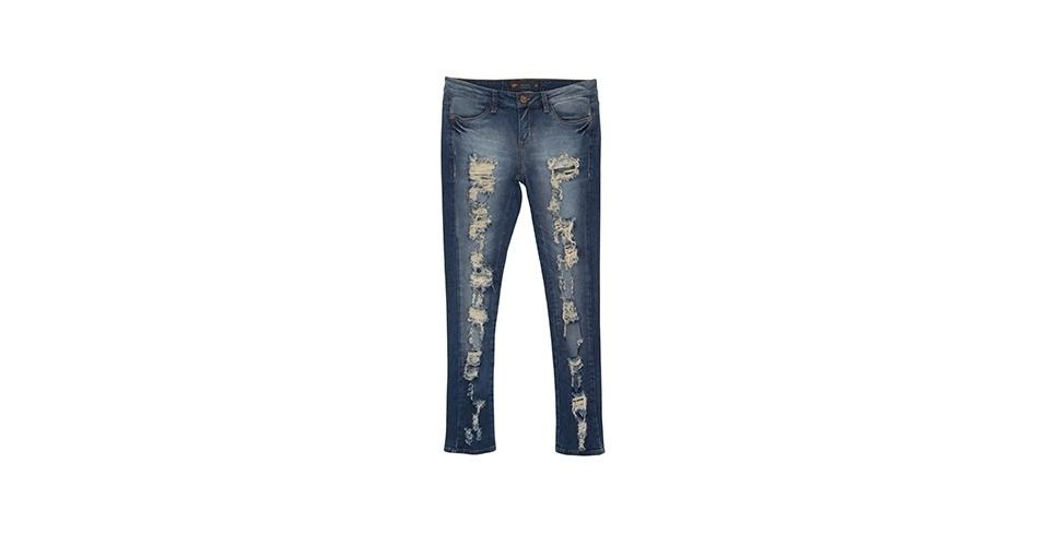 De jeans; R$ 99,90 da Riachuelo (www.riachuelo.com.br)