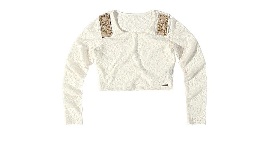 De renda com elastano e detalhe de material sintético bordado; R$ 109,99 da Malwee (www.malwee.com.br)