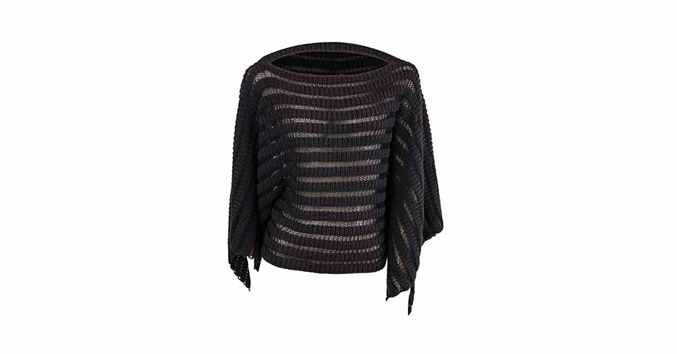 De tricot; R$ 540, na Alcaçuz (www.alcacuz.com.br)