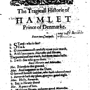 """Imagem publicação """"Hamlet"""" de 1603 - Reprodução"""
