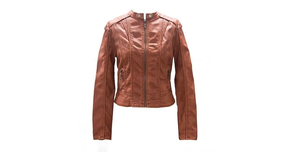 Jaqueta de couro; R$ 259,90 da D´Metal (www.dmetal.com.br)