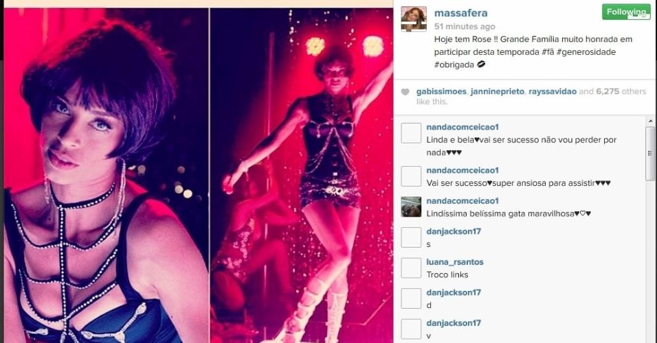 24.abr.2014 - Grazi Massafera mostra foto como dançarina de pole dance